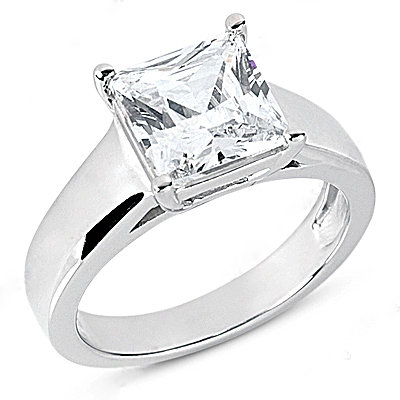 1.01 Ct. diamond solitaire engagement ring white gold