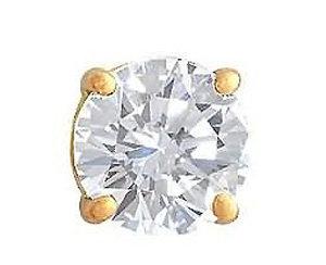 Men's jewelry single earring 1 ct. diamond stud earring