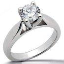 E VVS1 Diamonds 4 prong style 1.01 CT. GOLD ring