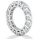 F VS1 Diamonds eternity wedding band ring gold jewelry