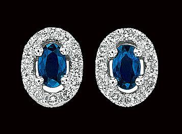 3.5 carat blue white diamonds stud earrings gold white