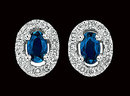 3.5 carat blue white diamonds stud earrings gold white