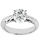 Diamond 1.25 Ct. solitaire ring wedding band set gold
