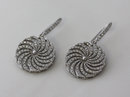 3.50 carat diamonds pair white gold new dangle earrings