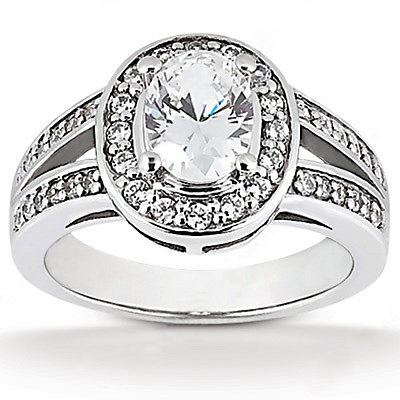 F VVS1 diamonds solitaire wedding ring 1.71 ct. diamond