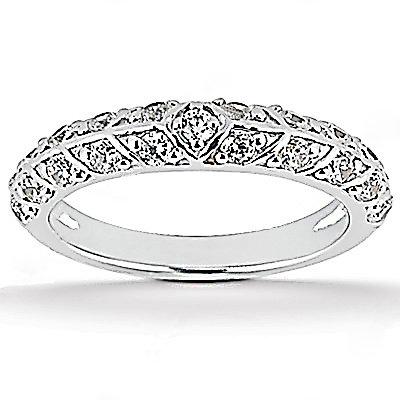 1.85 Ct. Diamonds wedding ring band set white gold ring