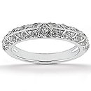 1.85 Ct. Diamonds wedding ring band set white gold ring