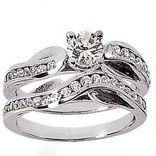 New diamonds 1.55 Ct. engagement ring anniversary band
