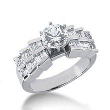 3.01 carat diamonds anniversary ring gold white new