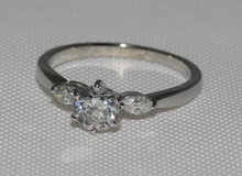 1.55 carat diamonds 3 stone engagement ring gold white