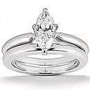 Diamonds 1.25 Ct. marquise cut wedding ring band set