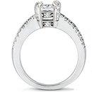 Princess cut diamond engagement ring 2.20 ct. diamonds