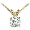 1.75 Ct. Diamond pendant with chain F VS1 necklace gold