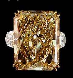 3.20 Ct.champagne radiant diamonds engagement ring gold