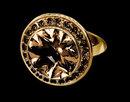 Champagne diamonds 3 carat engagement ring new
