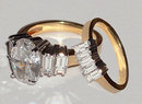 2.51carat diamonds engagement ring band set gold yellow