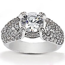 Big diamond engagement ring 4.01 ct. diamonds gold ring