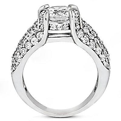 Big diamond engagement ring 4.01 ct. diamonds gold ring