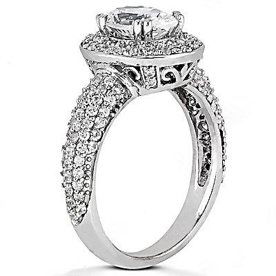 2.72 Ct. Diamonds anniversary ring white gold new ring