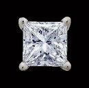 2.5 ct. F VS1 diamond stud earring single earring men's