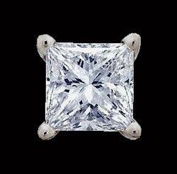 Diamond stud men's earring single 2.50 ct. earring gold