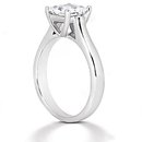 1.5 carats princess cut E VVS1 diamond solitaire ring