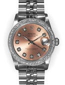 Midsize rolex datejust SS MID SIZE watch pink dial