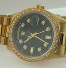 Rolex President watch 18K yellow gold diamonds mint
