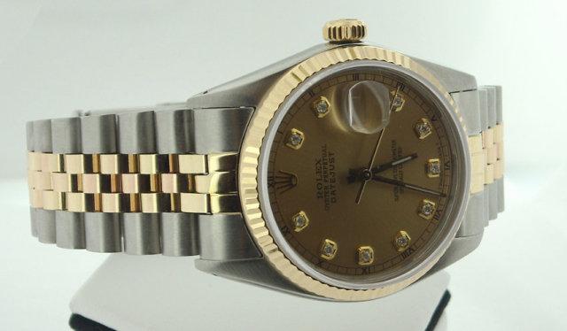 Rolex Datejust two tone jubilee bracelet mens watch