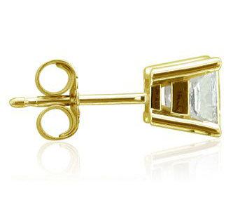 0.75 ct.single diamond studman jewelry earring new