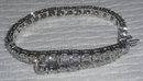 TENNIS BRACELET 14 carat DIAMONDS sparkling white gold