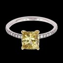 4.35 carat yellow canary & white diamonds wedding ring