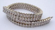 24.5 carats carpet diamond tennis bracelet round bezel