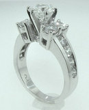 5.01 ct.high quality DIAMOND 2.51 ct.wedding ring gold
