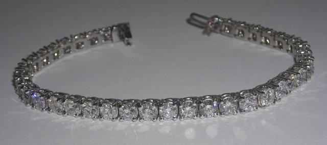 20 carat DIAMOND TENNIS BRACELET white gold 14K jewelry