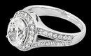 Oval diamond engagement ring split shank ring 2.76 cts.