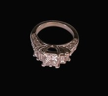 4 ct. diamonds princess & baguettes engagement ring new