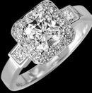3.26 cts. Radiant diamond jewelry ring white gold new