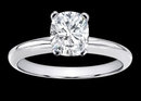 2 cts. Diamond solitaire ring cushion diamond ring