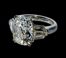 2.41 ct. cushion center diamond royal engagement ring