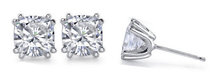 1.50 ct. cushion diamond studs earrings white gold new