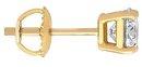 1.25 ct. Mens single diamond stud earring F VS1 diamond