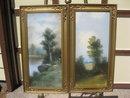 matched  pair of antique pastels (signed)