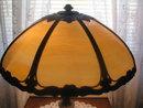ANTIQUE SLAG PANEL LAMP