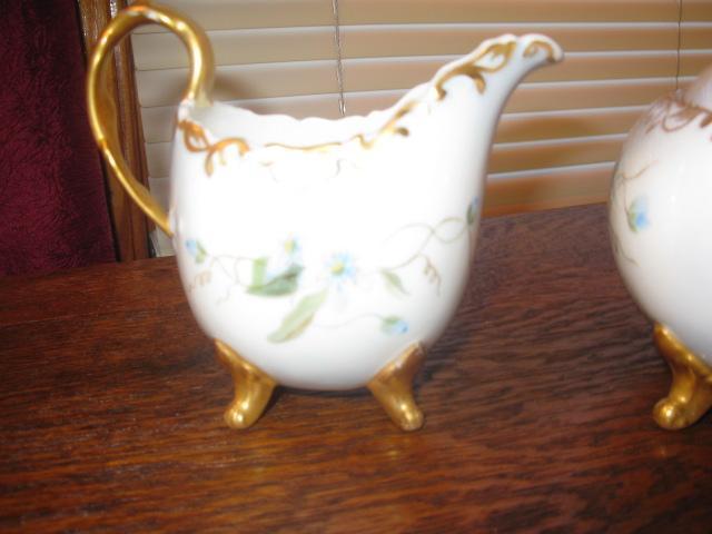 T & V Limoges footed tea set