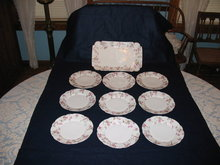 ANTIQUE LIMOGES  ICE CREAM SET