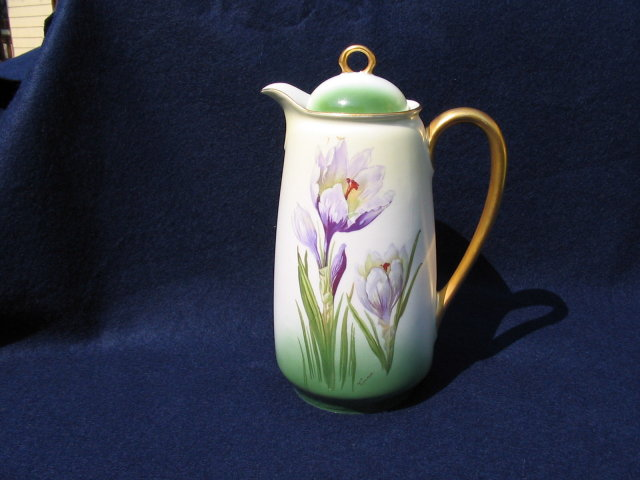 HAND PAINTED CHOCOLATE POT