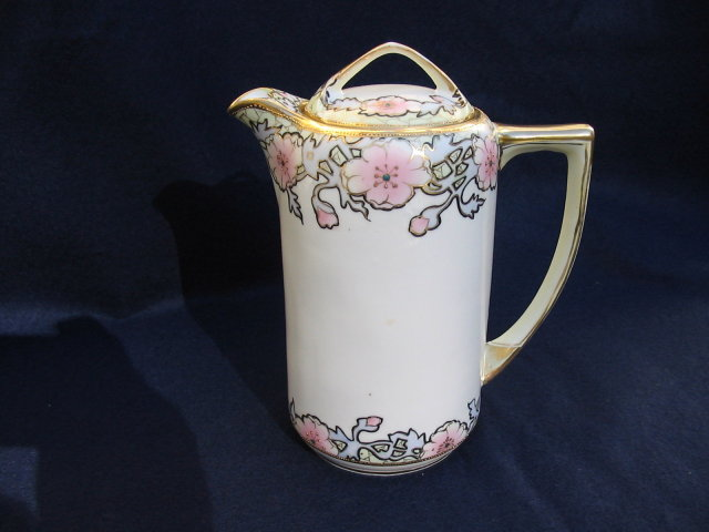 NIPPON H.  PAINTED  CHOCOLATE POT