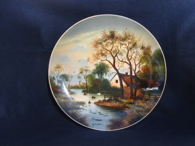 GERMAN  HAND PAINTED PLAQUE
