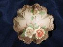 HAND PAINTED NIPPON  FOOTED NUT  BOWL